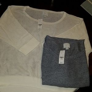 Open weave pullover tops